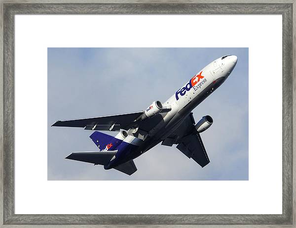 Fedex Mcdonnell-douglas Md-10-30f N308fe Phoenix Sky Harbor December 23 2010 Framed Print