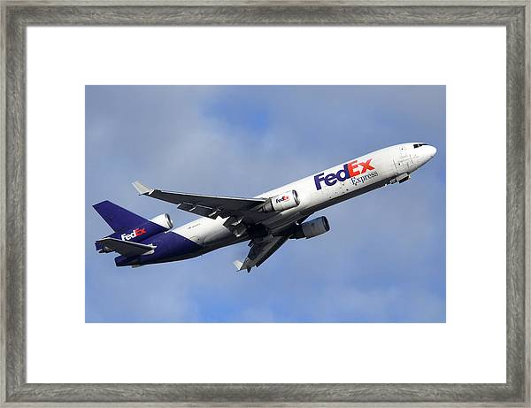 Fedex Mcdonnell-douglas Md-11f N605fe Phoenix Sky Harbor December 23 2010 Framed Print