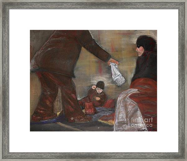 Feeding The Hungry Framed Print