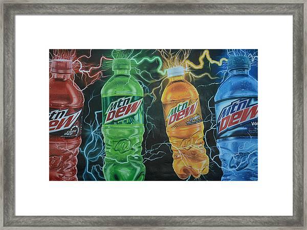 Feel The Dew Framed Print