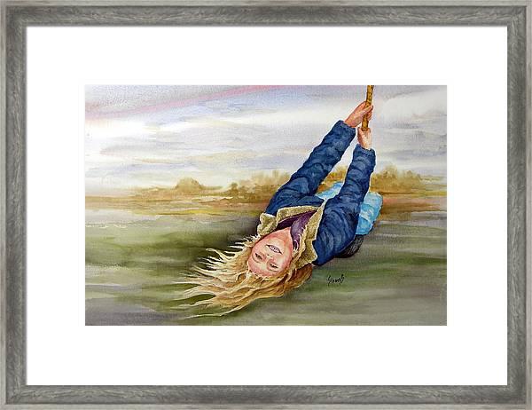Feelin The Wind Framed Print