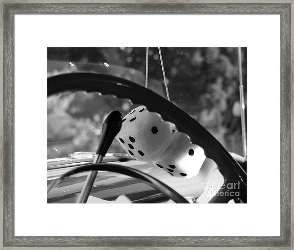 Feeling Lucky Question Or Statement Framed Print