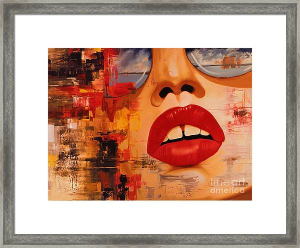 Female Abstract Face  Framed Print