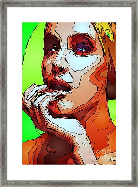 Female Expressions Framed Print