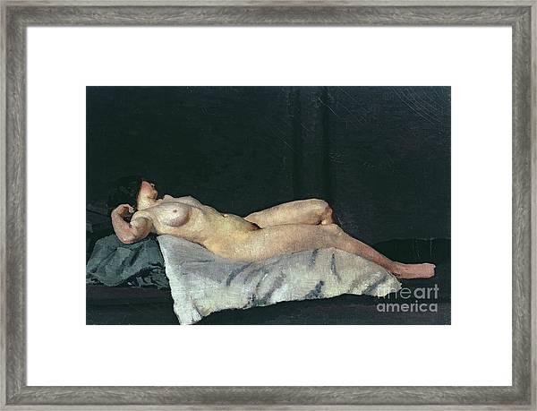 Female Figure Lying On Her Back Framed Print