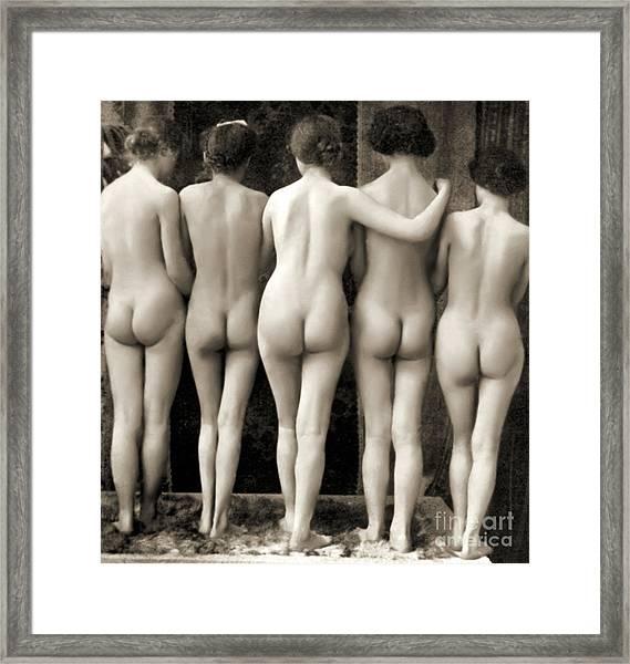 Female Nude Quintet Framed Print