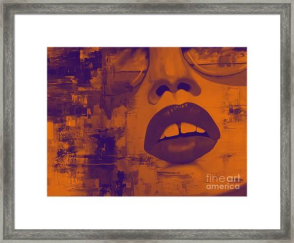 Female Portrait Art  Framed Print