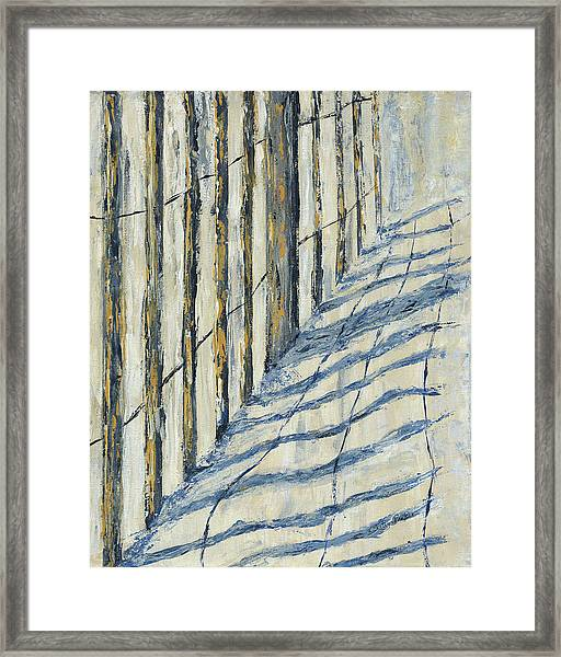 Fence At Palmetto Dunes Framed Print