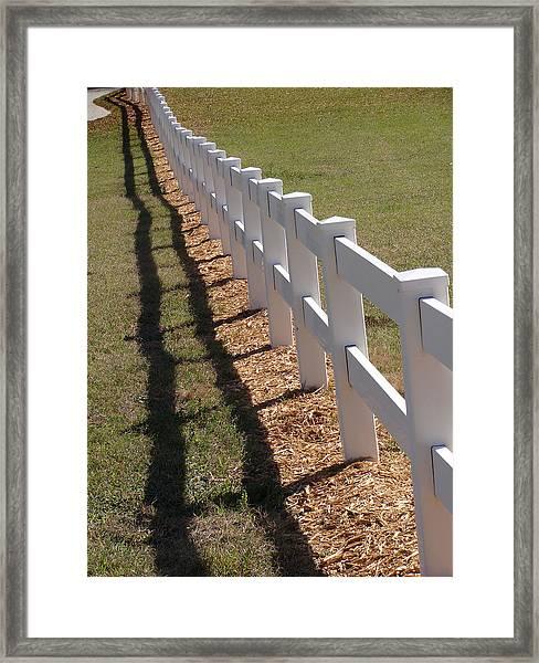 Fence Lined Framed Print