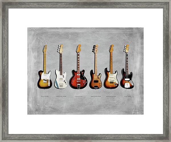 Fender Guitar Collection Framed Print