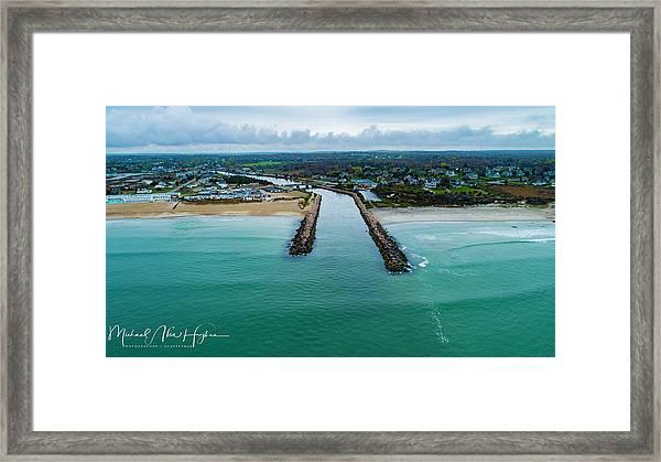 Fenway Beach Breakwater Framed Print
