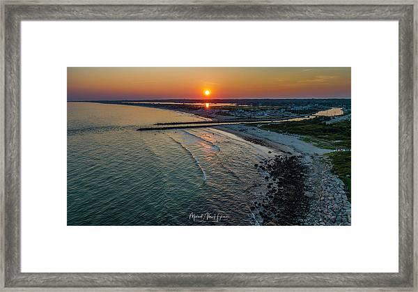 Fenway Beach Sunset Framed Print