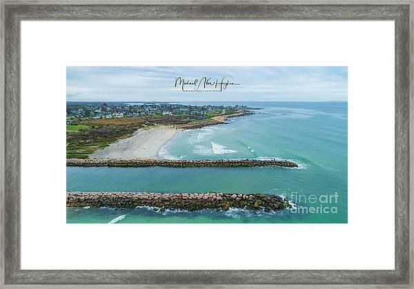 Fenway Beach, Weekapaug Framed Print