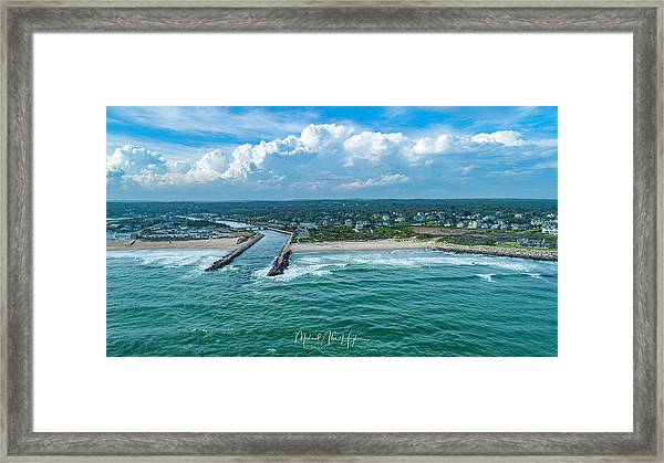 Fenway Beach, Weekapaug,ri Framed Print
