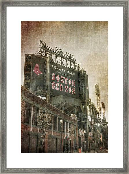 Fenway Park Billboard - Boston Red Sox Framed Print