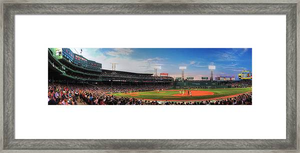 Fenway Park Panoramic - Boston Framed Print