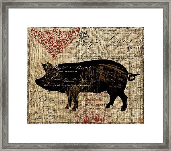 Ferme Farm Piglet Framed Print