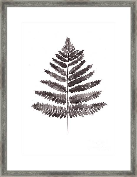 Fern Leaf Watercolor Art Print Framed Print