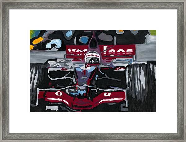 Fernando Alonso Wins Monaco For Mclaren 2008 Framed Print