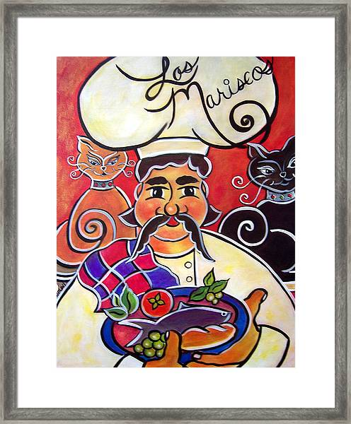 Fernando And The Fish Framed Print