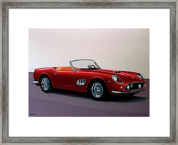 Ferrari 250 Gt California Spyder 1957 Painting Framed Print