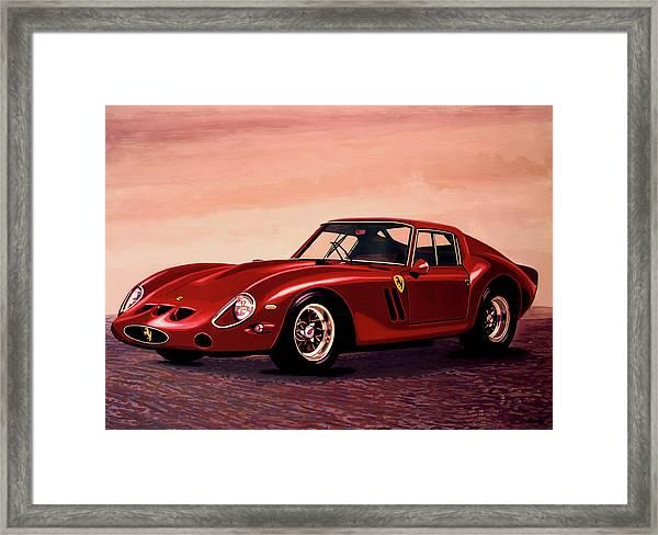 Ferrari 250 Gto 1962 Painting Framed Print