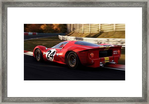 Ferrari 330 P4, Nordschleife - 17 Framed Print