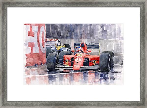 1991 Ferrari F1 Jean Alesi Phoenix Us Gp Arizona 1991 Framed Print