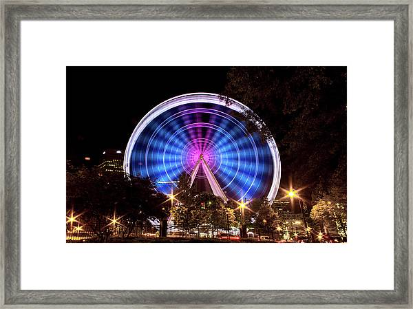 Ferris Wheel At Centennial Park 2 Framed Print