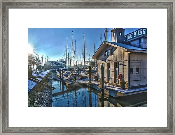 Ferry Harbour In Winter Framed Print