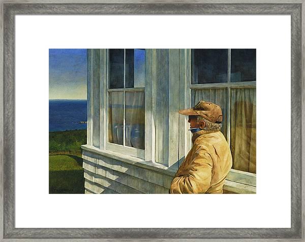 Ferry Watcher Framed Print
