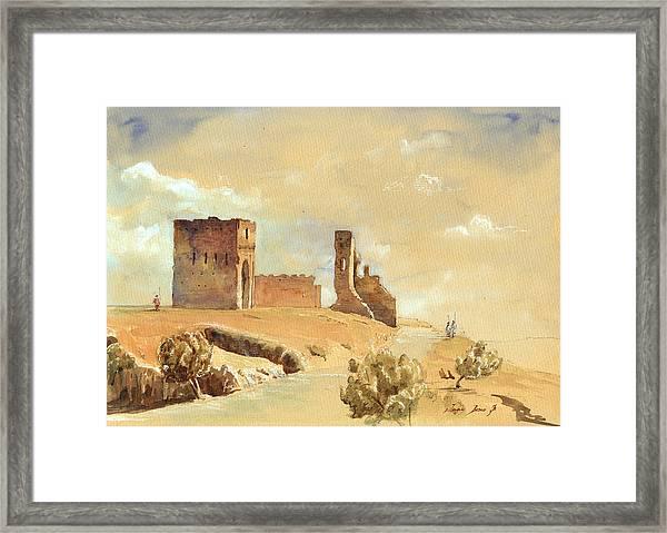 Fes Morocco Orientalist Painting Framed Print by Juan  Bosco