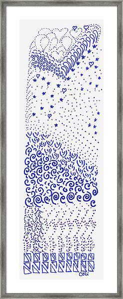 Festival Of Blues Framed Print
