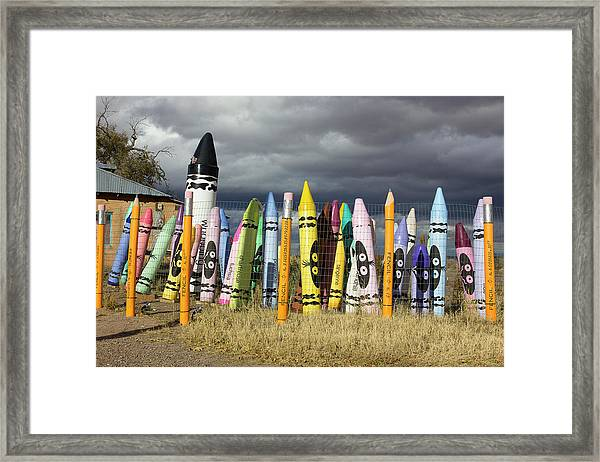Festival Of The Crayons Framed Print