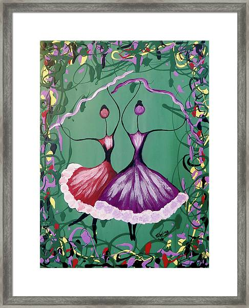 Festive Dancers Framed Print