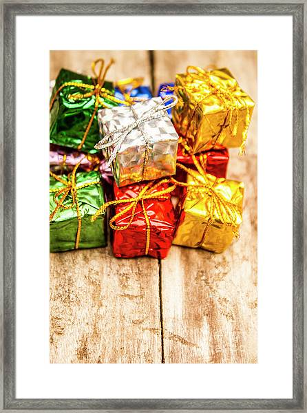 Festive Greeting Gifts Framed Print