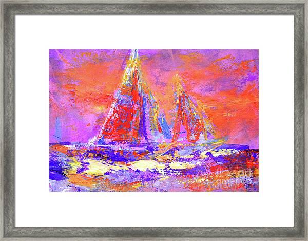 Festive Sailboats 11-28-16 Framed Print