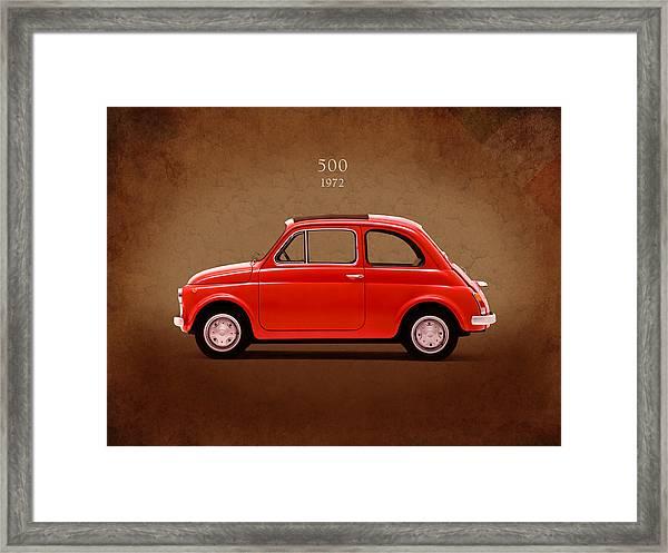 Fiat 500 R 1972 Framed Print