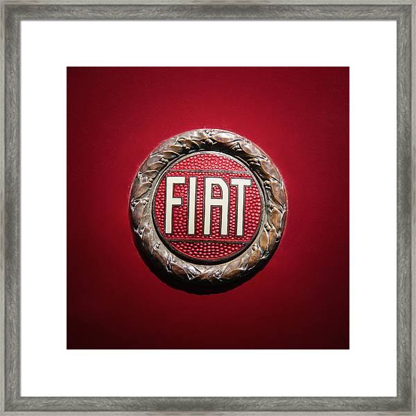 Fiat Emblem -1621c Framed Print