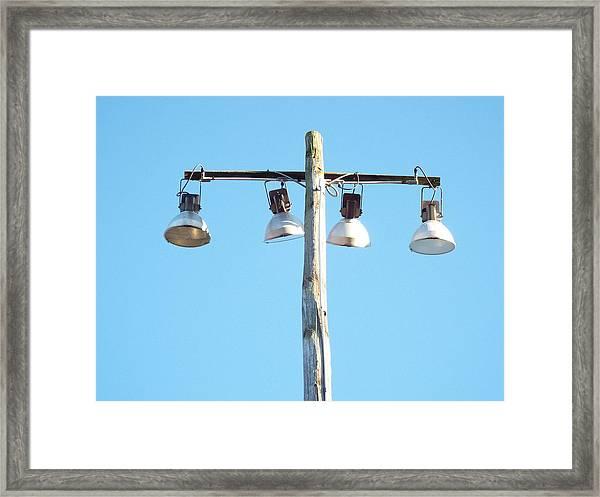 Field Lamp Framed Print