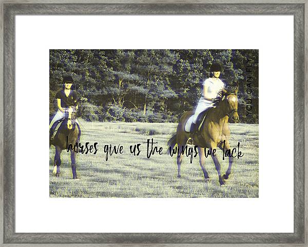Field Racing Quote Framed Print