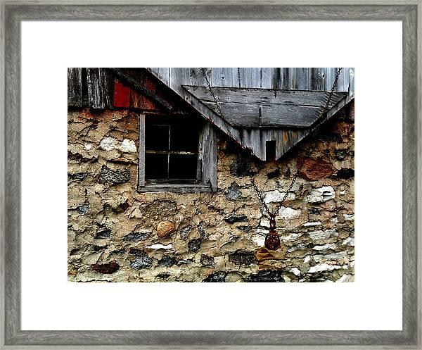 Field Stone Barn Framed Print