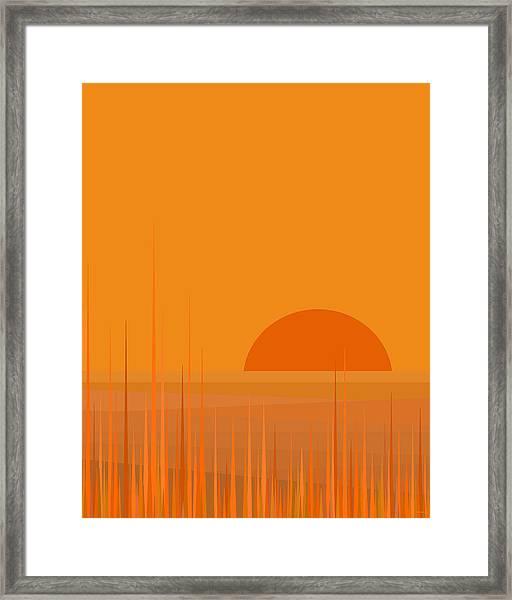 Field Sunset Framed Print
