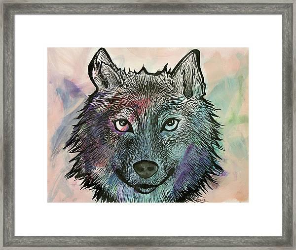 Fierce And Wise Framed Print