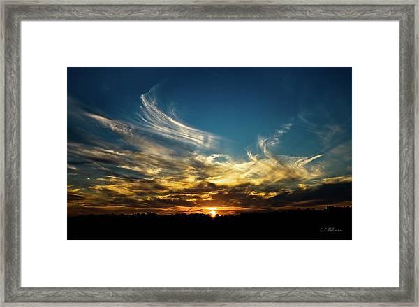 Fiery Sunset Framed Print