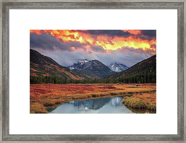 Fiery Uinta Sunset Framed Print