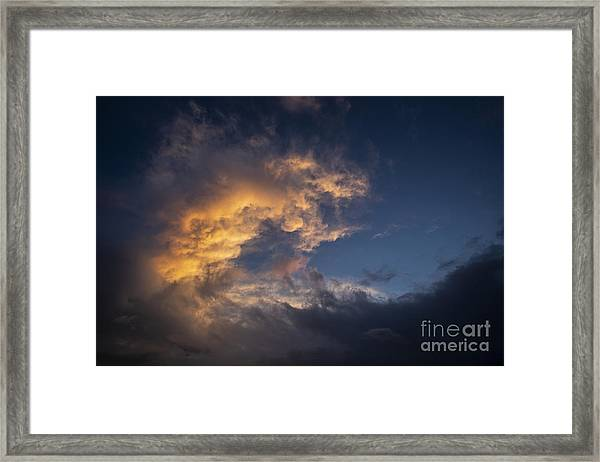 Fiery Wave Framed Print