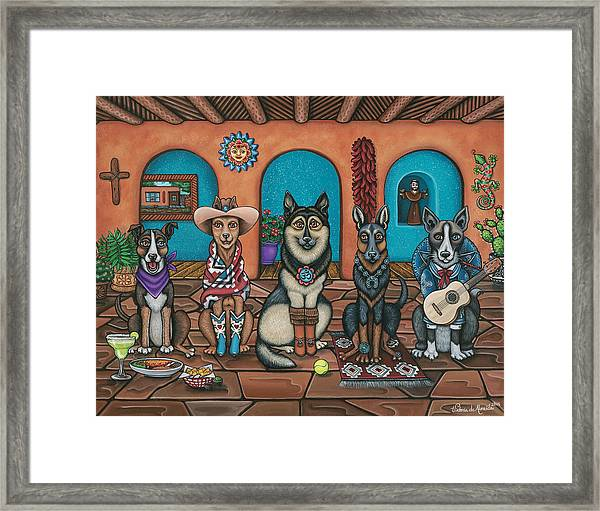 Fiesta Dogs Framed Print