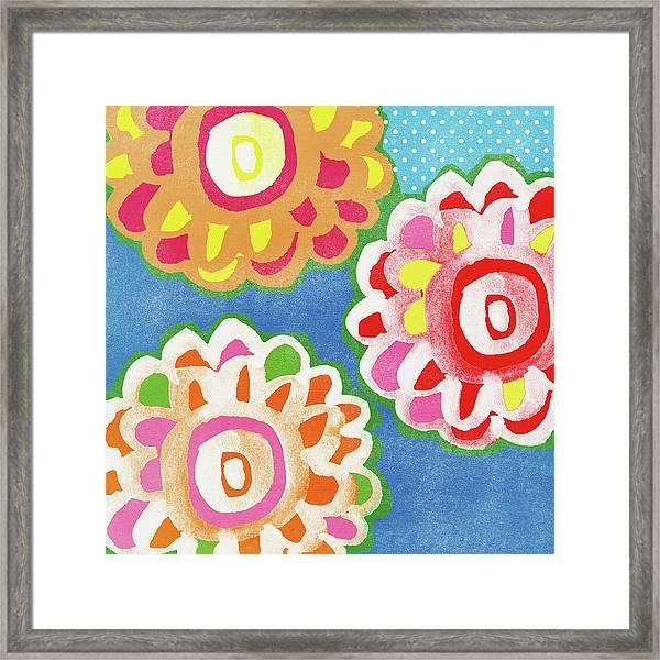 Fiesta Floral 3- Art By Linda Woods Framed Print