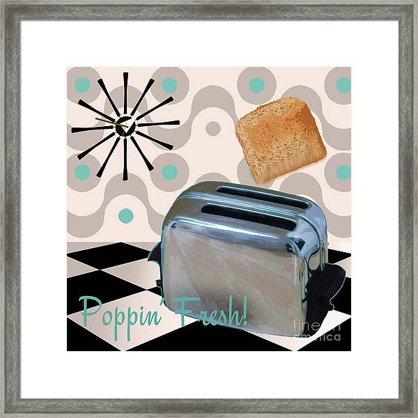 Fifties Kitchen Toaster Framed Print